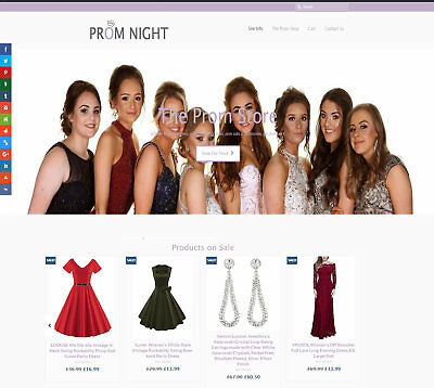 Fully Stocked PROM ACCESSORIES business: FREE Domain/Hosting. Up to £150 a sale!