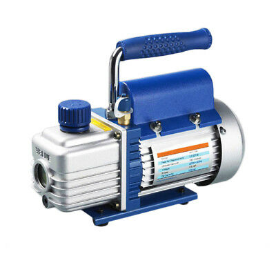 220V Single Stage Rotary Vane Mini Vacuum Pump 1L/s 2.12CFM for Refrigeration