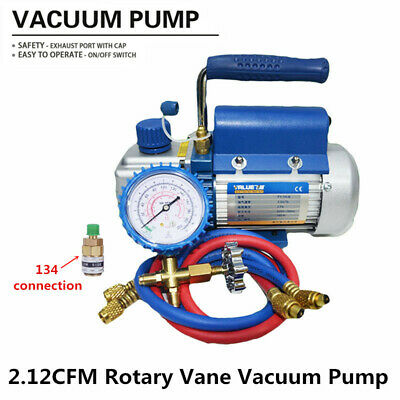 220V 2.12CFM 150W Rotary Mini Vane Vacuum Pump for Air Conditioning Refrigerant