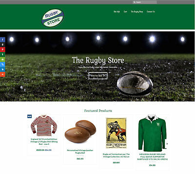 Fully Stocked RUGBY business: FREE Domain/Hosting. Up to £330 per sale!