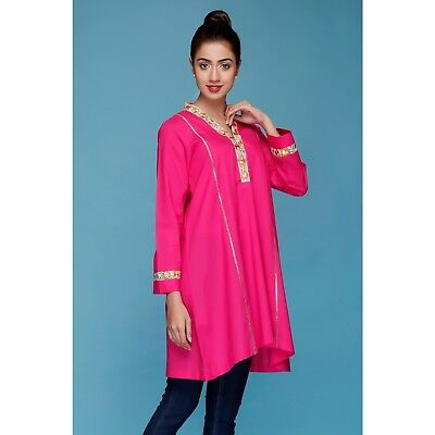 PAKISTANI DESIGNER LADIES clothing - ORIGINS Embroidered Pink Lawn Kurta