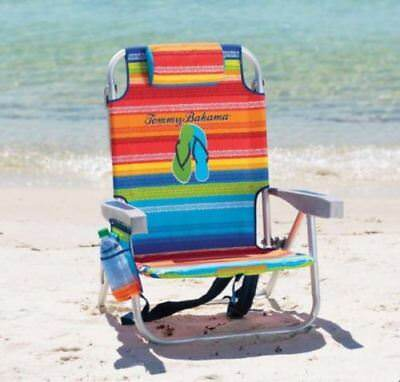 Tommy Bahama Back Pack Beach Chair Folding Backpack Deck Chair New