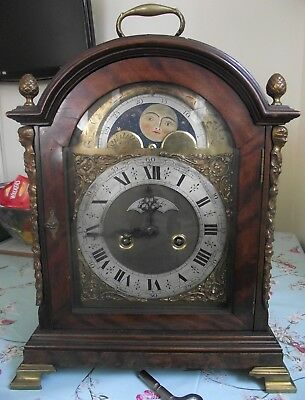 """ 19Th Century Walnut Bracket Clock "" John Taylor Of London"