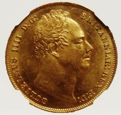1831 William Iv Sovereign Extremely Rare Certified Low Mintage Example