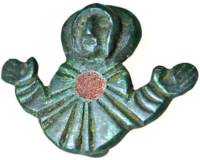 Byzantine Bronze Christian Attachment with Enamel