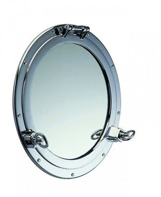Porthole bullaugespiegel Wall Mirror Maritime Decor Chrome Plated Ø 26cm to Open