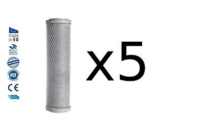 5x Reverse osmosis pre filters activated carbon block water filter replacements