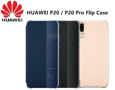 Original Official HUAWEI P20 Pro / P20 Smart View Window Leather Flip Case Cover