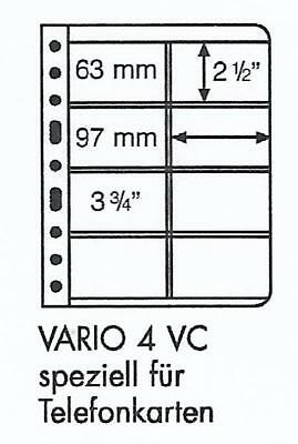 LIGHTHOUSE VARIO 8 POCKET CLEAR PHONECARD STOCK SHEETS Vario Code 4VC Pack of 5