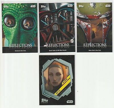 2016 Topps Star Wars Card Trader Reflections & Topps Choice Lot