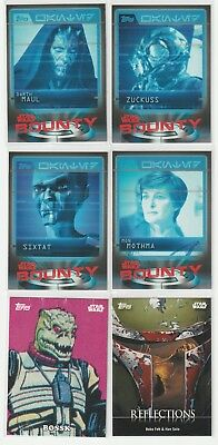 2016 Topps Star Wars Card Trader Bounty, Classic Art & Reflections Lot