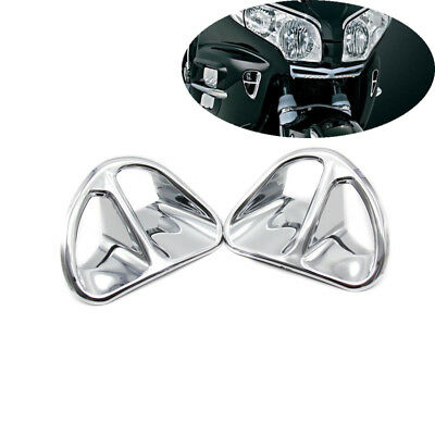 Motorcycle Chrome Fairing Air Intake Grilles For Honda Goldwing GL1800 2001-2010