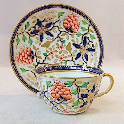 Ridgeway Tea Cup and Saucer Hand Painted Imari Pattern 435 Bute Shape Antique