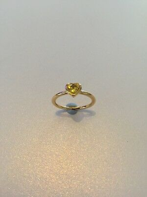 75ee2c75f Pandora Shine 18ct Gold Plated sterling silver Radiant Heart Ring size 52