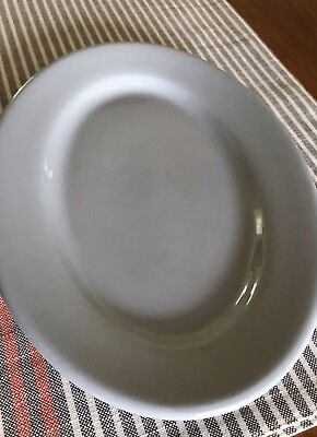 Pretty BLUE LUNE Vintage BUFFALO CHINA RESTAURANT WARE OVAL PLATTER