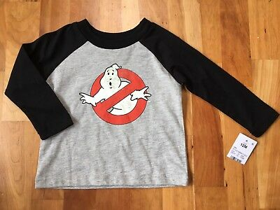 Ghostbusters Ghost Toddler Boy Long Sleeve Shirt Target Baby 12mo Vintage Retro