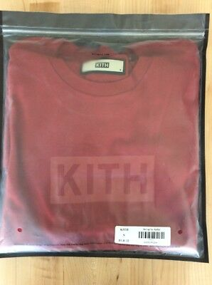 KITH FLAG WAVE Box Logo Tee Red Size Medium In Hand Free