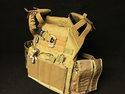 Jump Plate Carrier mit Molle System Coyote mit Dummy  SAPI Platten