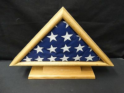 Antique WWII Era United States of America Serviceman Burial Flag Oak Display