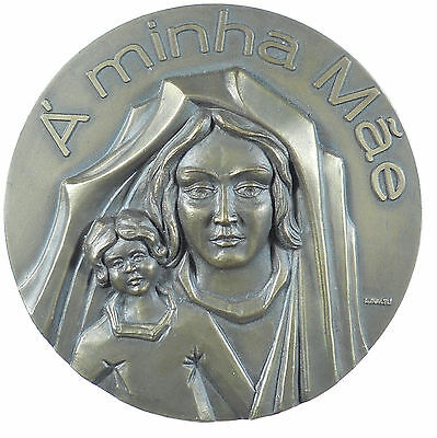 2000 Portugal Religion  Madonna and Child MOTHERS' DAY bronze 87mm