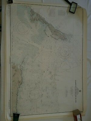 VINTAGE 1926 NAVY Nautical Chart 2790 BERMUDA Ireland island Grassy Bay Sailing