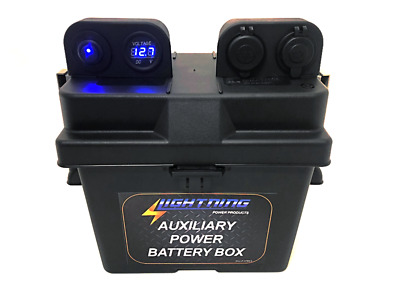 LIGHTNING Auxiliary Power Battery Box - Fits up to 35AH AGM Battery size (LP-APB
