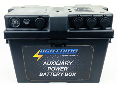 LIGHTNING Auxiliary Power Battery Box - Fits up to 120AH AGM Battery size (LP-AP