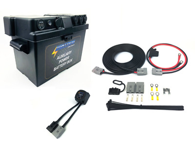 LIGHTNING Basic Dual Battery System - Power Battery Box + Quick Connect Wiring K