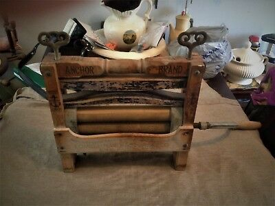 Antique Anchor Brand Wash/Clothes Wringer No 770~ Blue Bicycle- 1898 Lovell MFG