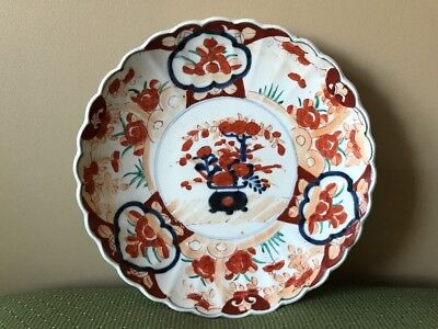 Antique 19th Century Japanese Imari Large Scalloped Charger Plate