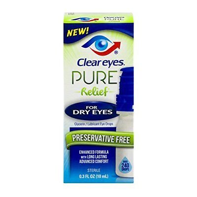 Clear Eyes Preservative Free Pure Relief for Dry Eyes .3 fluid ounces