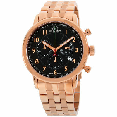 88 Rue Du Rhone 87WA120049 Men's Dress Double 8 Origin Rose Gold Chrono Watch