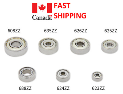 1pc Ball bearing 623ZZ 624ZZ 625ZZ 626ZZ 635ZZ 688ZZ  608ZZ 3D printer Machine..