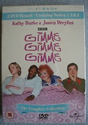 Gimme, Gimme, Gimme - The Complete Boxset (DVD, 2006, 3-Disc Box Set) Brand New