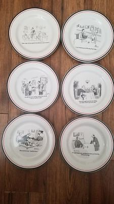 The New Yorker Cheese Plates Set of 6 in Box & THE NEW YORKER Bar Cartoon Cheese Plates (Set Of 6) With Custom Box ...