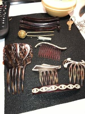 Vintage Hair Combs And Barrets