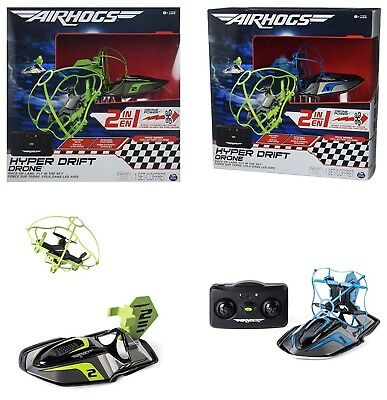 Air Hogs 2 In1 Hyper Drift Drone High Speed Racing And Flying Ages 8 Car