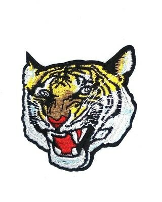 BENGAL TIGER iron-on PATCH embroidered ROARING WILD ANIMAL SOUVENIR APPLIQUE 173