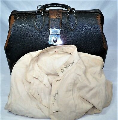 Kruse 16-75 Doctor Bag & 1933 Doctor Surgical Coat Ripley, Ohio Maysville, KY