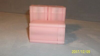 NEW--Pink--ONE (1) Alfred S. Colellia Square Coin Tube-Medallion Size
