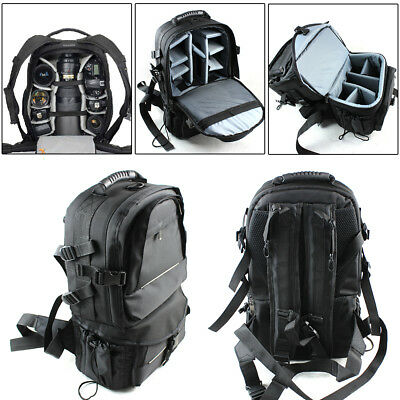 Large DSLR Waterproof Camera Backpack Travel Shoulder Bag Case For Canon Nikon