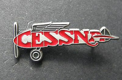 Cessna Script Cutout Plane Civil Aircraft Lapel Pin Badge 1 Inch