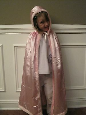NEW Hooded PINK PRINCESS CAPE Easter gift Halloween Costume girl play cloak