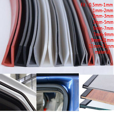 0.5mm~13mm Rubber U Channel Edging Trim Seal Edge Protection From Metal House