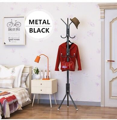 Metal Hat and Coat Clothes Umbrella Hall Stand Rack Hanger Hooks Tree Jacket Bag