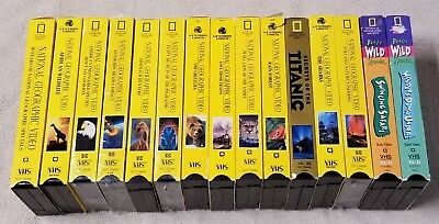Lot 19 NATIONAL GEOGRAPHIC Vhs Video Tapes TRAINS Rain Forest REALLY WILD ANIMAL