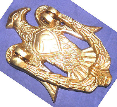 Eagle Shape Antique Vintage Style Handmade Brass Door Knocker Knob Home Decor E1