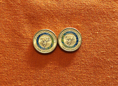 1 x 2018 * Commonwealth Games * $2 Coin * week 2 * Blue & Yellow * SHINY & NEW!!
