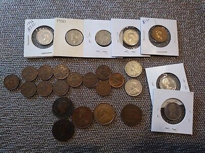 Old Canadian Coin Lot, Pennies and Nickels, Token, some Uncirculated!