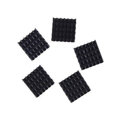 5pcs Aluminum Black Heat Sink for LED Power Memory Chip 19*19*5mm .High Qualis .